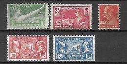 France 1924 - 1927  Cat Yt N°183, 184 243, 244,245    N* MLH - France