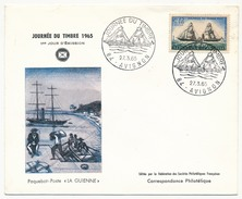 FRANCE => Enveloppe Fédérale 1965 => 0,25 + 0,10 Journée Du Timbre - La Guienne - Avignon - FDC