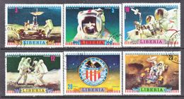 LIBERIA  599-604    (o)   SPACE  APOLLO  16  MOON  LANDING - Space
