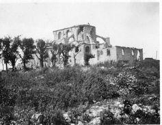 PHOTO FRANÇAISE - LES RUINES DE L'EGLISE DE MONTFAUCON PRES DE CHEPPY ARGONNE - GUERRE 1914 1918 - 1914-18