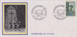 Enveloppe  Centenaire  Du  27éme  B.C.A   ANNECY   1971 - Militaria