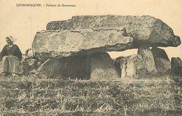 Réf : A-18 Pie Tre-1163 : LOCMARIAQUER. DOLMEN DE KERVERESSE - Dolmen & Menhirs