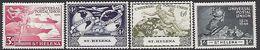 St Helena Island   1949   Sc#132-5  UPU Set  MLH*  2016 Scott Value $4.85 - Sainte-Hélène