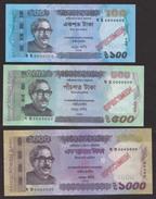 Bangladesh 2017 SPECIMEN 100 500 1000 Taka New Signature High Value UNC Note - Bangladesh