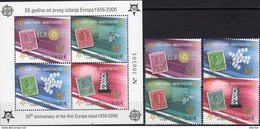 2006 Perforiert EUROPA 108/1 II+Block 2 A ** 44€ Hojita Bloc Art S/s Waps Sheet Space M/s Bf Topic Stamp On Stamps - Montenegro