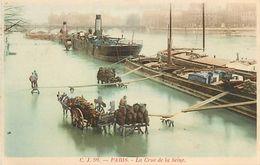 Réf : A-18 Pie Tre-1243 : PARIS. INONDATIONS.  PENICHES - La Crecida Del Sena De 1910