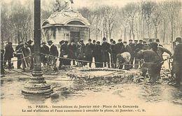 Réf : A-18 Pie Tre-1244 : PARIS. INONDATIONS.  PLACE DE LA CONCORDE - Inondations De 1910