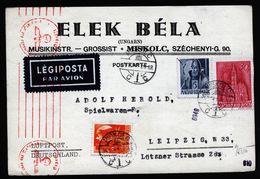 A5045) Ungarn Hungary Karte Miskolc 26.10.43 Nach Leipzig Mit Zensur - Ungarn