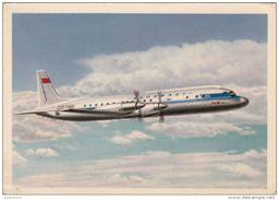 QSL Card Amateur Radio CB 26 July 1963 Aeroflot Russian Airlines IL-18 Passenger Turboprop Ilyushin USSR Leningrad - Radio Amateur