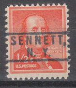 USA Precancel Vorausentwertung Preo, Locals New York, Sennett 801 - Vereinigte Staaten
