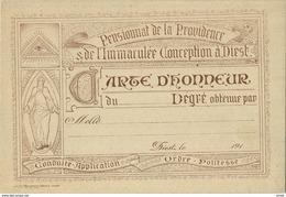 Diest : Pensionnat De La Providence .190x .( LITHO Jos Meulemans Graveur Leuven ) ( Verso Sporen Was Ingeplakt ) - Diest