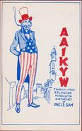 QSL Card Amateur Radio CB Arlington Massachusetts Uncle Sam Samuel Wilson Illustrator 1976 Westford USA - Radio Amateur