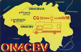 QSL Card Amateur Radio CB Wingene Lendelede Mobile Home Mobilehome Trailer Caravan Gilbert Buyse - Radio Amatoriale
