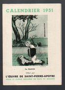 Lyon : Calendrier 1951 OEUVRE ST PIERRE L'APOTRE  (PPP6535) - Calendars