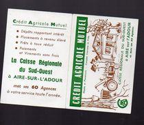 Aire Sur L'adour (40 Landes) Calendrier 1965 CREDIT AGRICOLE MUTUEL (PPP6536) - Calendars