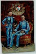 52238060 - Koenig Otto Und Koenig Ludwig II  Wappen Sign. F.B.  AK - Royal Families