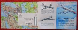 Publicité BEAA Advertising British European Airways Vintage International Route Maps Dunlop BP Brochure - Publicités