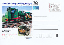 Tschech. Rep. / Ganzsachen (Pre2012/42) Industrie-Schmalspurbahnen (Zuckerrübenbahn Kolin) - Landwirtschaft