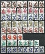 Alemania. 1972 / 73. Lote De Repetidos De La Serie Básica - Timbres