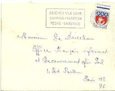 MAINE Et LOIRE - Dépt N° 49 = SEICHES Sur Le LOIR 1967 = FLAMME Codée = SECAP  'CAMPING NATATION PECHE CANOTAGE' - Oblitérations Mécaniques (flammes)
