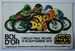 Bol D'Or 1979 - Autocollant - Moto Revue - Circuit Paul Ricard - (n°9701) - Stickers