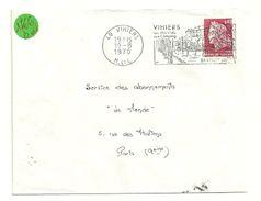 MAINE Et LOIRE - Dépt N° 49 = VIHIERS 1970 = FLAMME à DROITE = SECAP Illustrée D'un CHATEAU Vallée Du LYS ' - Postmark Collection (Covers)