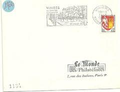 MAINE Et LOIRE - Dépt N° 49 = VIHIERS 1966 = FLAMME SUPERBE Non Codée = SECAP Illustrée D'un CHATEAU Vallée Du LYS ' - Postmark Collection (Covers)