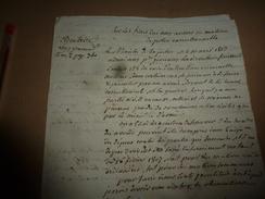 1813 Lettre Du Ministre Sur FRAIS Dus Aux Avoués En Matière De Police Correctionnelle......comme Au Tarif De 1807, Etc - Manuscrits