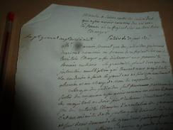 1816 Le Pr Général Près Du Roi :MARCHE A SUIVRE Contre Individus Qui Ap Avoir Commis Des Crimes En France Se Réfugient à - Manuscrits