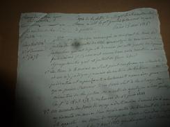1816 RAPPEL Au Pt  De La Cour Royale IL EST IMPERATIF De Suivre Le Modèle De Répartition Des Frais,actuellement ABUSIFS - Manuscrits