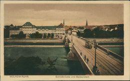 AK Mülheim Ruhr, Schloßbrücke Und Badeanstalt, Um 1920 (27943) - Muelheim A. D. Ruhr