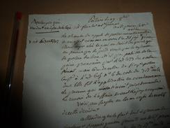 1812 Lettre De Fouché  Av. Général à Mr ? : Sur Le Boulanger Qui à Vendu Du Pain Au Dessus De La Tare ---> Décision, Etc - Manuscrits