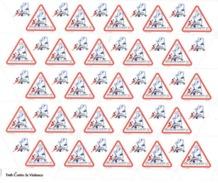 ALGERIE ALGERIA 2018 FULL SHEET ¤ ODD SHAPE TRIANGLE TRIANGULAR BIRDS BIRD OISEAUX OISEAU DOVE CONTRE LA VIOENCE MNH ** - Pigeons & Columbiformes