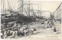 MARSEILLE: LE QUAI RIVE NEUVE-DEBARQUEMENT DU SUCRE - Vecchio Porto (Vieux-Port), Saint Victor, Le Panier