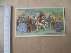 CHROMO   MONNAIE  PIECE  LOUIS  VIII  CHEVAL SOLDAT - Chromos
