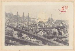 Avant Gare De Paris : Déraillement Au PONT MARCADET, Le 29 Juillet 1912 .Quadruplement. Photo Originale - Trains