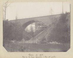 SAINT MARTIN DU TERTRE  : Destruction Pont De La Pierre Turquaise, 13 Nov 1914. Gauche.  Quadruplement. Photo Originale - Trains