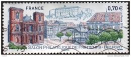 Oblitération Moderne Sur Timbre De France N° 5041 - Salon Philatélique De Printemps à Belfort - Arbres, Kiosque - France