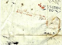 1807- Lettre De Lyon  Pour Turin Puis Redirigée Sur Milan  -au, DEB.sé DE TURIN Rouge + Arrivée Milin - Marcofilia (sobres)