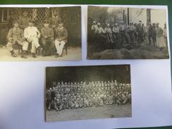3 CPA PRISONNIERS DE GUERRE ALLEMANDS CHATEAU D OLERON 1916 VUE DE GROUPE MILITAIRE - Ile D'Oléron