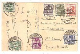 Österreich INNSBRUCK - 1935 - 7x Volkstrachten Auf Postkarte - 1918-1945 1. Republik