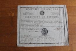 Empire Français 1806 Certificat De Reforme  Departement De L'OURTE  Aigle Imperial, Cachet , Autographe - Documentos Históricos