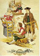 Petits Métiers D'autrefois N°55 Le Rempailleur Illustrateur Maudy Carte Voyagé En 1985 - Autres Illustrateurs