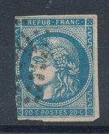 45B Emission De Bordeaux 20c Bleu - Cote 65€ - 1870 Ausgabe Bordeaux