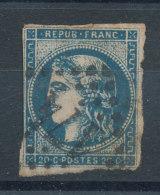45C Emission De Bordeaux 20c Bleu - Cote 70€ - 1870 Emission De Bordeaux
