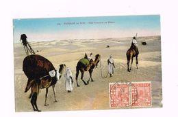 Paysage Du Sud.Une Caravane Au Désert.Expédié D'Alger à Berchem (Belgique) - Algeria