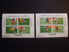 ROMANIA 1984.     EU CHAMPIONSHIP    MICHEL   BLOCK 205/206   MNH ** (V3-NVT) - UEFA European Championship