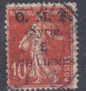 Syrie N° 28 O Timbre De France Surchargé : 5 M. Sur 10 C. Rouge Oblitération Moyenne Sinon TB - Syria (1919-1945)
