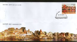 India 2016 Varanasi Holy City River Ganga Hindu Mythology Temple FDC# F3102 - Hinduism