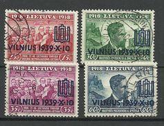 LITHUANIA Litauen 1939 Michel 433 - 436 O - Litouwen